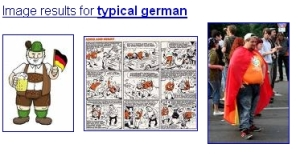 The three first results of Google Image Search for \'typical german\'
